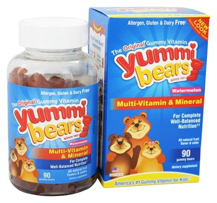DROPPED: Hero Nutritional Products - Yummi Bears Children's Multi-Vitamin & Mineral Watermelon - 90 Gummies