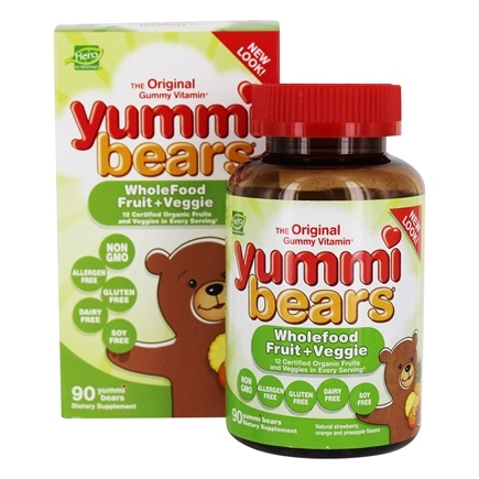 Hero Nutritionals Products - Yummi Bears Children's Wholefood Fruit + Veggie - 90 Gummies