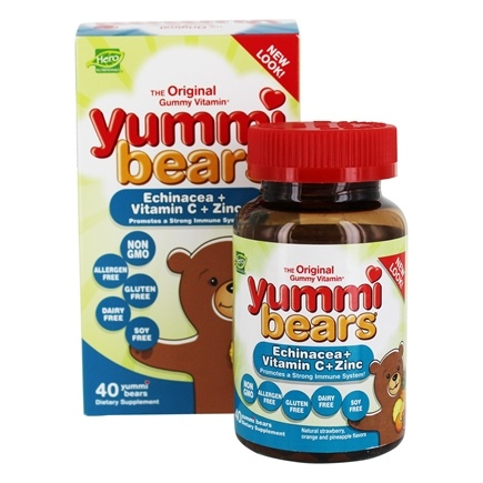 Hero Nutritionals Products - Yummi Bears Echinacea + Vitamin C + Zinc - 40 Gummies