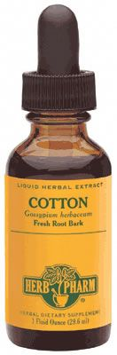 DROPPED: Herb Pharm - Cotton Extract - 1 oz. CLEARANCE PRICED