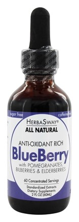 HerbaSway - Memory Support All Natural - 2 oz. formerly Blueberry Magic Deep Blue Antioxidant