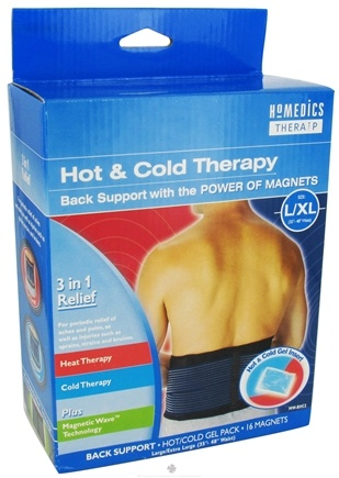 DROPPED: HoMedics - Back Support Hot/Cold Therapy with the Power of Magnets - Large/XL - CLEARANCE PRICED