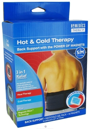 DROPPED: HoMedics - Back Support Hot/Cold Therapy with the Power of Magnets - Small/Medium - CLEARANCE PRICED