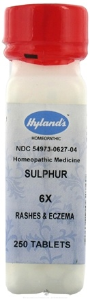 DROPPED: Hylands - Sulphur 6 X - 250 Tablets CLEARANCE PRICED