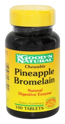 DROPPED: Good 'N Natural - Chewable Pineapple Bromelain Natural Digestive Enzyme - 100 Tablets