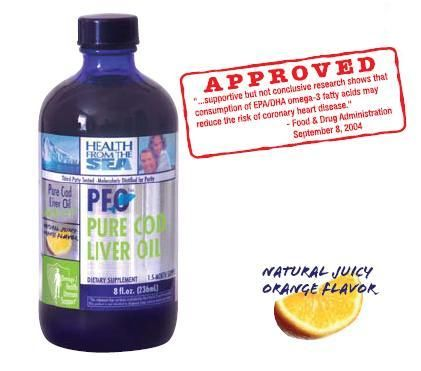 DROPPED: Health From The Sun - PFO Pure Cod Liver Oil - 8 oz.