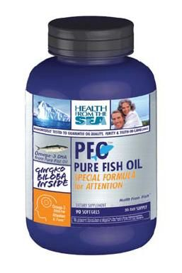 DROPPED: Health From The Sun - PFO Pure Fish Oil for Attention(C) - 90 Softgels