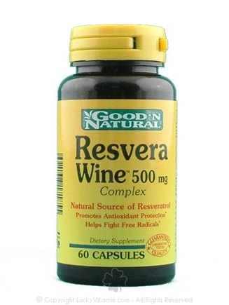 DROPPED: Good 'N Natural - Resvera Wine Complex 500 mg. - 60 Capsules