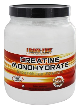 DROPPED: Iron Tek - Essential Creatine Monohydrate Powder 5 g. - 2.65 lbs.