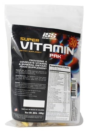 DROPPED: ISS Research - Super Vitamin Pak - 30 Pack(s)