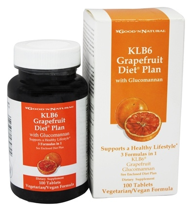 Good 'N Natural - KLB6 Grapefruit Diet Plan with Glucomannan - 100 Tablets