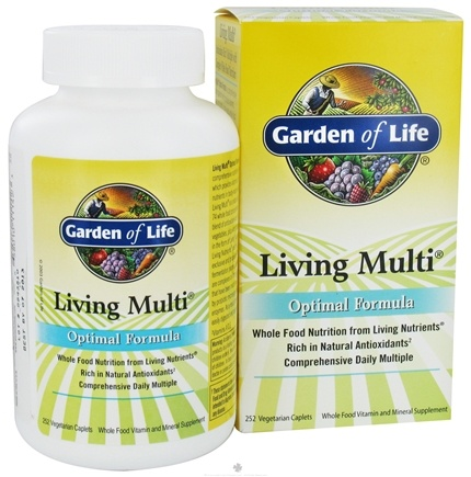 DROPPED: Garden of Life - Living Multi Optimal Formula - 252 Vegetarian Caplet(s)