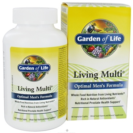 DROPPED: Garden of Life - Living Multi Optimal Men's Formula - 180 Vegetarian Caplet(s)