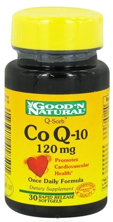 DROPPED: Good 'N Natural - CoQ-10 120 mg. - 30 Softgels