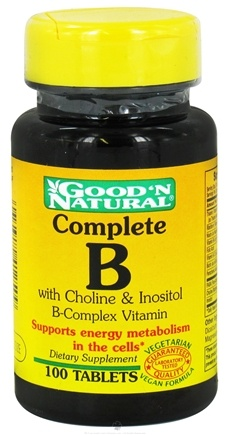Good 'N Natural - Complete B Tablet B-Complex Vitamin - 100 Tablets