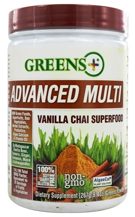 Greens Plus - Advanced Multi Superfood Vanilla Chai - 9.4 oz. Formerly Greens Plus Smart & Fit Superfood