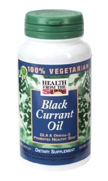 DROPPED: Health From The Sun - 100% Vegetarian Black Currant Oil - 90 Capsules