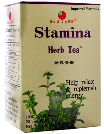 DROPPED: Health King - Stamina Herb Tea - 20 Tea Bags