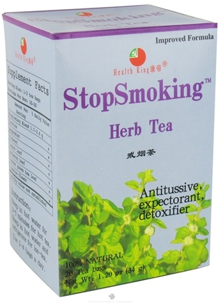 DROPPED: Health King - Stopsmoking Herb Tea - 20 Tea Bags