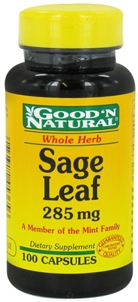 DROPPED: Good 'N Natural - Sage Leaf 285 mg. - 100 Capsules
