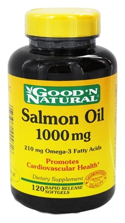 DROPPED: Good 'N Natural - Salmon Oil with Omega-3 Fatty Acids 1000 mg. - 120 Softgels