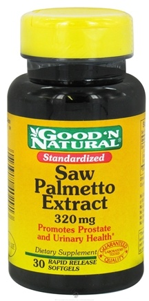 DROPPED: Good 'N Natural - Saw Palmetto 320 mg. - 30 Softgels