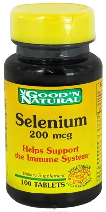DROPPED: Good 'N Natural - Selenium 200 mcg. - 100 Tablets