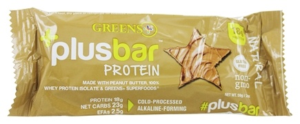 Greens Plus - Protein Natural Bar Natural Peanut Butter - 2 oz.