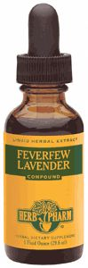 DROPPED: Herb Pharm - Feverfew Lavender Compound Clearance Priced - 1 oz.