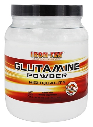 Iron Tek - Essential Glutamine Monohydrate Powder - 2.4 lbs.