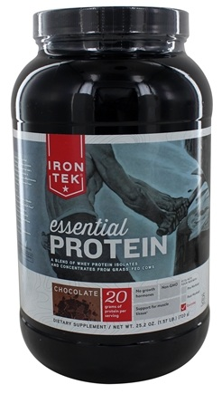 Iron Tek - Essential Natural High Protein with Micellar Casein Chocolate Fudge - 2.3 lbs.