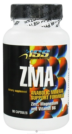 DROPPED: ISS Research - ZMA Anabolic Mineral Support Formula - 90 Capsules CLEARANCE PRICED