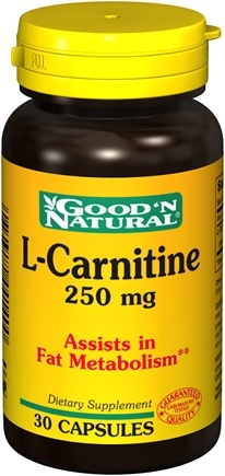 DROPPED: Good 'N Natural - L-Carnitine 250 mg. - 30 Capsules
