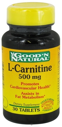 DROPPED: Good 'N Natural - L-Carnitine Vegetarian Formula 500 mg. - 30 Tablets CLEARANCE PRICED