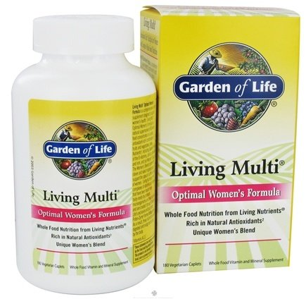 DROPPED: Garden of Life - Living Multi Optimal Women's Formula - 180 Caplets