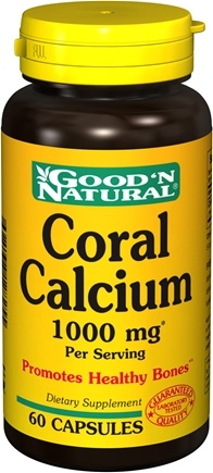 DROPPED: Good 'N Natural - Coral Calcium 1000 mg. - 60 Capsules