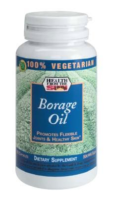 DROPPED: Health From The Sun - 100% Vegetarian Borage Oil - 90 Capsules