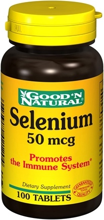 DROPPED: Good 'N Natural - Selenium 50 mcg. - 100 Tablets