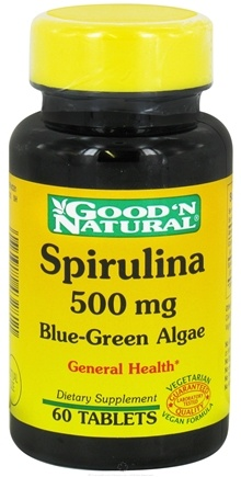 Good 'N Natural - Spirulina 500 mg. - 60 Tablets
