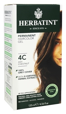 Herbatint - Herbal Haircolor Permanent Gel 4C Ash Chestnut - 4.5 oz.
