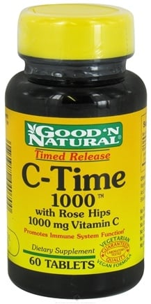 Good 'N Natural - C-Time 1000 With Rose Hips Time Release - 60 Tablets