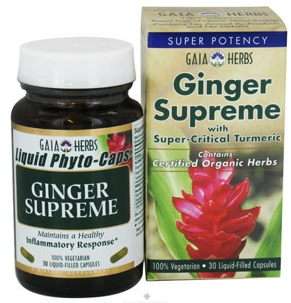 DROPPED: Gaia Herbs - Ginger Supreme Liquid Phyto Caps - 30 Vegetarian Capsules CLEARANCE PRICED