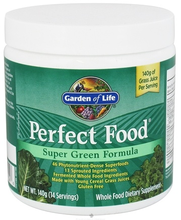 Garden of Life - Perfect Food Super Green Formula Powder - 4.94 oz.