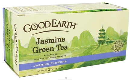 DROPPED: Good Earth Teas - Jasmine Green Tea Jasmine Flowers - 25 Tea Bags