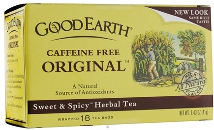 DROPPED: Good Earth Teas - Original Tea Caffeine-Free - 18 Tea Bags