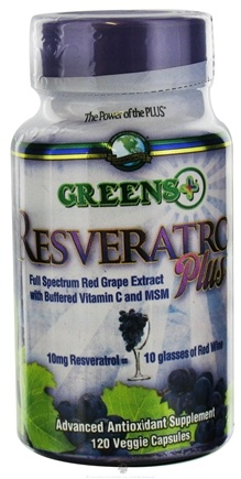 DROPPED: Greens Plus - Resveratrol Plus - 120 Vegetarian Capsules