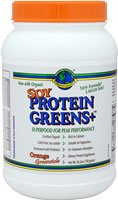 DROPPED: Greens Plus - Protein Greens Plus Isoflavone-Rich Soy Isolate Orange Greensicle Flavor - 26.3 oz.