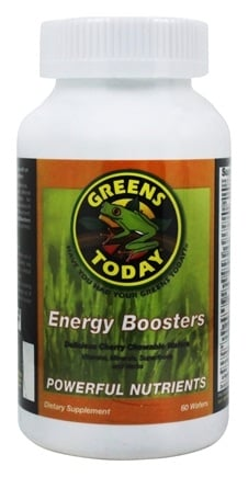 Greens Today - Energy Boosters Cherry Flavor - 60 Wafers