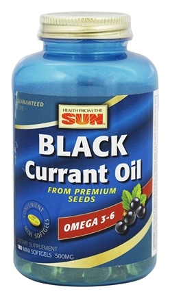Health From The Sun - Black Currant Oil 500 mg. - 180 Softgels