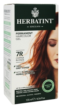 Herbatint - Herbal Haircolor Permanent Gel 7R Copper Blonde - 4.5 oz.